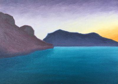 Bartlett Lake — Dawn | Oil on Panel | 8x10