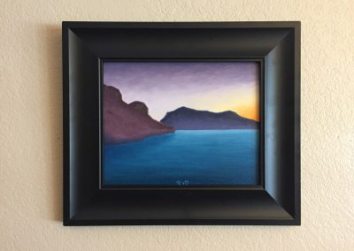 Bartlett Lake — Dawn | Oil on Panel - Framed | 8x10