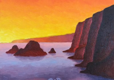Pololu Sunrise | Oil on Panel | 8x10