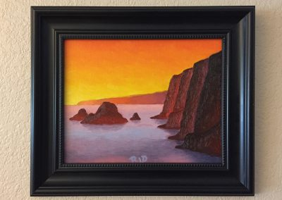 Pololu Sunrise | Oil on Panel - Framed | 8x10
