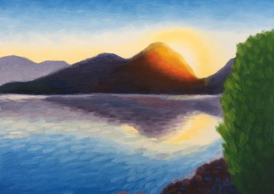 Saguaro Lake Sunrise | Oil on Panel | 8x10