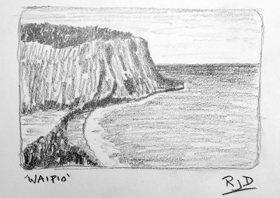 Waipio | Pencil Sketch