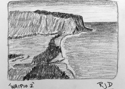 Waipio 2 | Pencil Sketch