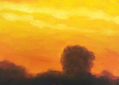 Sunset Treeline | Oil on Canvas | 8x10