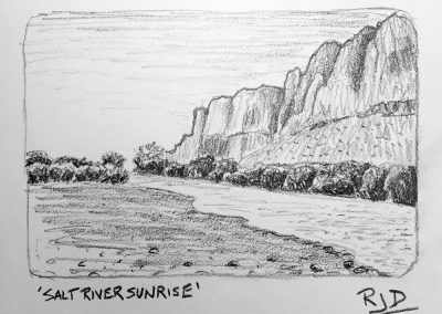 Salt River Sunrise | Pencil Sketch