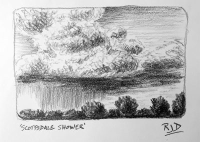 Scottsdale Shower | Pencil Sketch