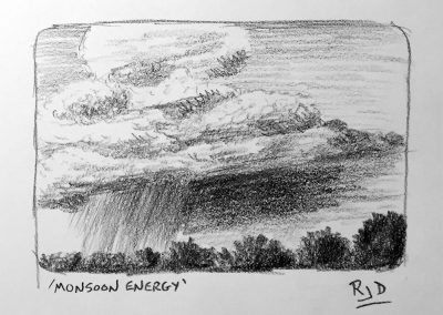 Monsoon Energy | Pencil Sketch