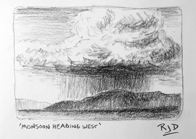 Monsoon Heading West | Pencil Sketch