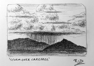 Storm Over Carefree | Pencil Sketch