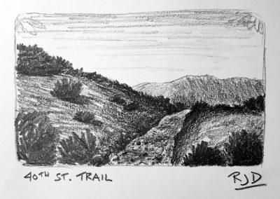 40th St Trail | Pencil Sketch