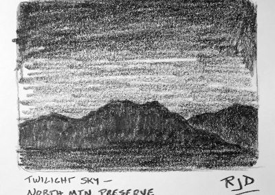 Twilight Sky | Pencil Sketch