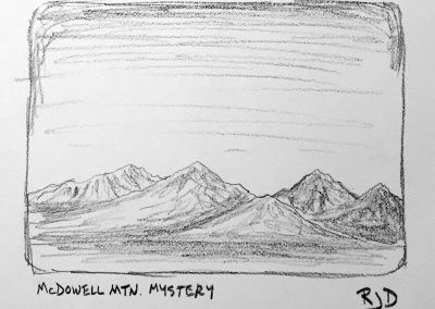 McDowell Mountain Mystery | Pencil Sketch