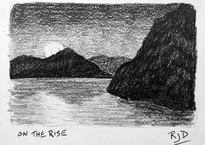 On the Rise | Pencil Sketch