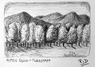 Aspen Glow | Pencil Sketch