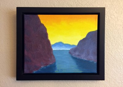 Yellow Sky | Oil on Panel - Framed | 8x10