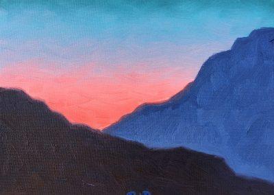 Canyon Dawn | Oil on Panel | 8x10