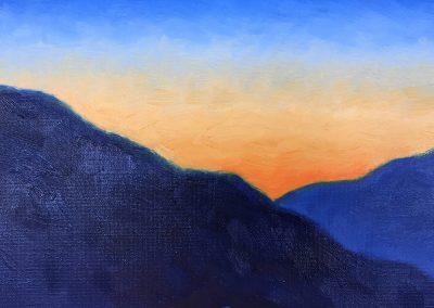 Foothills Twilight | Oil on Panel | 8x10