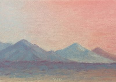 McDowell Mountain Haze | Pastel | 5x7