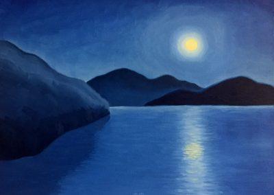 Saguaro Lake Shimmer | Oil on Canvas | 18x24