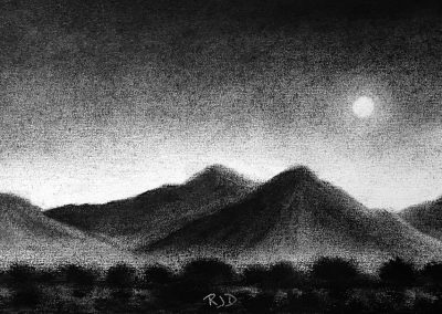 McDowell Moonrise | Charcoal | 5x7