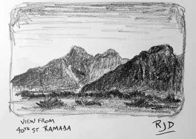 View from 40th St. Ramada | Pencil Sketch