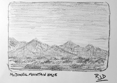 McDowell Mountain Haze | Pencil Sketch