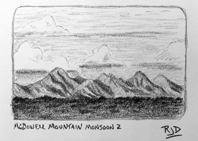 McDowell Mountain Monsoon 2 | Pencil Sketch