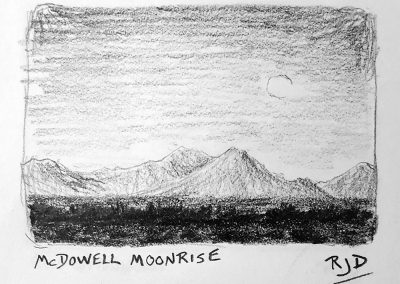 McDowell Moonrise | Pencil Sketch