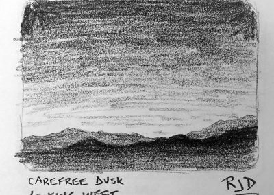 Carefree Dusk Looking West | Pencil Sketch