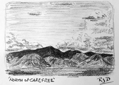 North of Carefree | Pencil Sketch