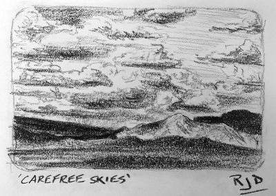 Carefree Skies | Pencil Sketch