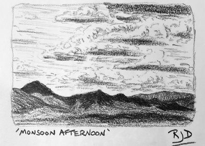 Monsoon Afternoon | Pencil Sketch