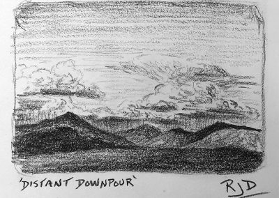 Distant Downpour | Pencil Sketch
