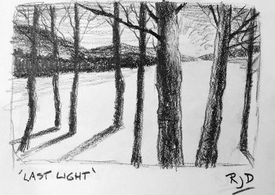 Last Light | Pencil Sketch