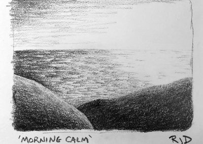 Morning Calm | Pencil Sketch