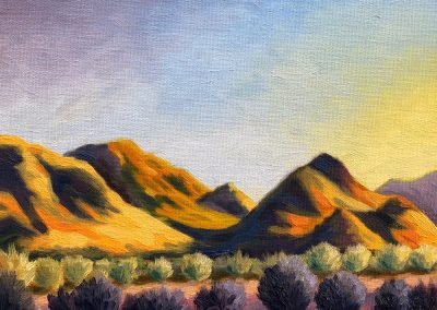 40th Street Trail, Phoenix – 12.29.17 | Oil on Canvas Panel | 8x10