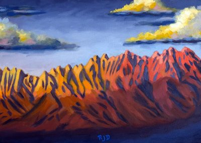 Organ Mountains | Commission | Oil on Canvas | 10x20