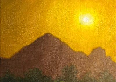 """Camelback Mountain"" | Oil on canvas | 8x10"